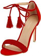 New Look Tostada, Scarpe col Tacco Punta Aperta Donna, Red (Bright Red 60), 40 EU