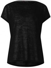 Street One 312060, T-Shirt Donna, Nero (Black 10001), 40