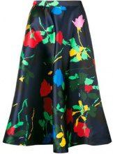 - MSGM - floral print midi skirt - women - Polyester - 40, 42 - Blu
