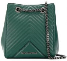 - Karl Lagerfeld - K/Klassik quilted bucket bag - women - pelle - Taglia Unica - di colore verde
