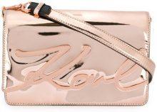 Karl Lagerfeld - Borsa a spalla 'Signature Gloss' - women - Thermoplastic Polyurethane (TPU) - One Size - METALLIC
