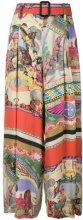 Etro - Pantaloni ampi stampati - women - Silk/viscose - 44 - Multicolore