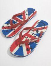 Jack & Jones - Infradito con bandiera britannica - Rosso