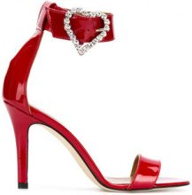 - Paris Texas - heart buckle sandals - women - pelle - 37, 37.5, 38.5, 39, 36, 40 - di colore rosso