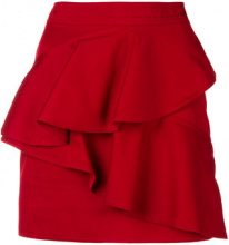 Isabel Marant Étoile - frilled fitted skirt - women - Cotone - 38, 36, 40 - Rosso