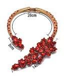 Twopages - Collana con cristalli incastonati, gioiello ideale da regalare a una donna