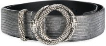 Just Cavalli - embossed snake buckle belt - women - Cotone/Polyester/Polyurethane/Sheepskin - 80, 85 - Grigio