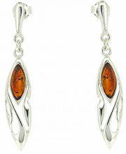 Nova Silver Donna 925 argento Marquise arancione Ambra