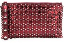 Red Valentino - studded clutch bag - women - Leather - OS - Rosso