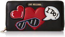 Love Moschino Portafogli Nappa Pu Nero - Pochette da giorno Donna, (Black), 3x10x20 cm (B x H T)