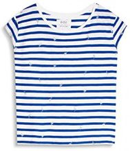 edc by Esprit 057cc1k022, T-Shirt Donna, Multicolore (Bright Blue), 40 (Taglia Produttore: Large)