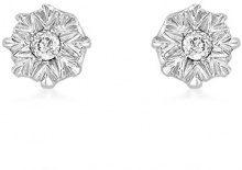 Carissima Gold - Orecchini a Perno da Donna in Oro Bianco 9K (375) con Diamante