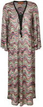 Missoni Mare - Kaftano a righe - women - Cupro/Viscose/Polyester - 42 - MULTICOLOUR