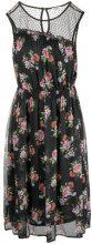 - Liu Jo - floral sleeveless dress - women - fibra sintetica - 38, 40, 42, 44, 46 - di colore nero