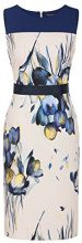 APART Fashion Mauve-Silvergrey-Smokyblue-Dots, Jacquards & Print, Vestito Donna, Mehrfarbig (Cream-Multicolor), 36