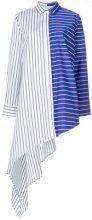 Off-White - Camicia a righe asimmetrica - women - Cotone - 42, 40, 38 - Multicolore
