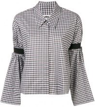 Mm6 Maison Margiela - gingham-print shirt - women - Cotone - 40, 42, 44, 46 - Verde