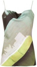 Mara Mac - spaghetti straps blouse - women - Polyester - 38, 40, 42, 44 - GREEN
