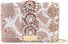 Gedebe - crystal embellished cross-body bag - women - Python Skin/Crystal/metal - OS - Rosa & viola