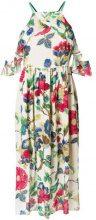 Semicouture - floral midi halter dress - women - Polyester/Viscose - 42 - MULTICOLOUR