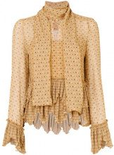 See By Chloé - Blusa con sciarpa - women - Polyester/Viscose - 40 - MULTICOLOUR