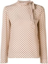 Red Valentino - polka dotted longsleeved blouse - women - Silk - 40, 44 - Color carne & neutri
