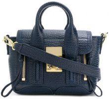 3.1 Phillip Lim - Borsa tracolla con dettagli zip - women - Leather - One Size - Blu