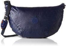 Kipling Nille - Borse a spalla Donna, Blau (Lacquer Indigo), 48x30x0.1 cm (B x H T)