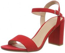 New Look Sims, Scarpe col Tacco Punta Aperta Donna, Red (Bright Red 60), 40 EU