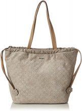 Joop! Velluto Stampa Paloma Shopper Lho - Borse a secchiello Donna, Grau (Light Grey), 12x29x26 cm (B x H T)