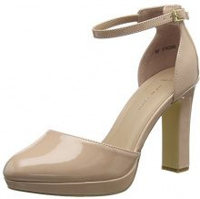 New Look Wide Foot Supped, Scarpe col Tacco Punta Chiusa Donna, Beige (Oatmeal 14), 41 EU