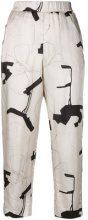 Peserico - Pantaloni stampati - women - Viscose/Acetate/Cupro - 42 - NUDE & NEUTRALS