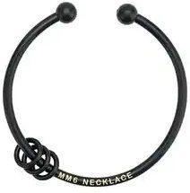 Mm6 Maison Margiela - hoop detail inscribed necklace - women - Brass - One Size - Nero