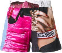 Moschino - Pantaloncini 'Barbie' - women - Cotton - 40 - MULTICOLOUR