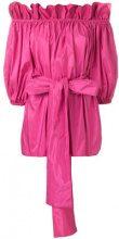 Stella McCartney - Blusa con spalle scoperte - women - Silk/Polyester - 36, 38, 40, 42, 44, 46 - Rosa & viola