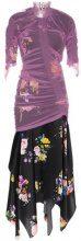 Preen By Thornton Bregazzi - lynn floral print tulle dress - women - Polyamide/Spandex/Elastane - XS, L - Nero