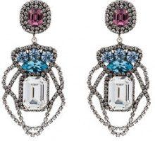 Dannijo - Orecchini pendenti 'Xenia' - women - Brass/glass - OS - Metallizzato