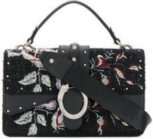 - Liu Jo - Darsena embroidered bag - women - fibra sintetica - Taglia Unica - di colore nero