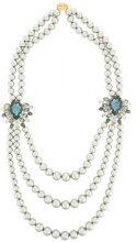 Melissa Kandiyoti - Collana 'Maharadjah' - women - Swarovski Crystal/Pearls - OS - Metallizzato