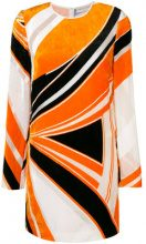 Emilio Pucci - Miniabito stampato in velluto - women - Silk/Viscose - 42 - YELLOW & ORANGE