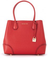 Borsa a spalla Michael Kors Mercer Gallery media in pelle rossa