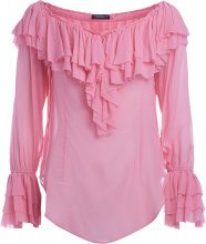 Blusa Twinset rosa con rouches