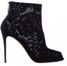 Dolce & Gabbana - floral lace boooties - women - Cotone/Polyamide/Viscose - 37, 38.5, 39, 39.5 - Nero