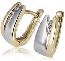 Goldmaid Orecchini da Donna Oro 2 colori Brillante Diamante