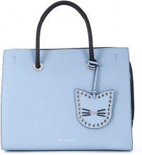 Borsa a mano Karl Lagerfeld Karry All in pelle azzurra