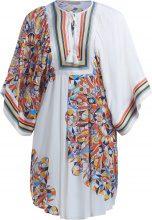 Tunica Tory Burch Kaleidoscope bianca con grafica multicolore