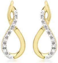 Carissima Gold - Orecchini da Donna in Oro Giallo 9K (375) con Diamante (0.06 K)