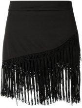 Amir Slama - fringed skirt - women - Cotton - P, M - Nero
