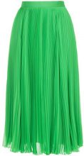 H Beauty&Youth - pleated midi skirt - women - Polyester/Cupro - S, M - GREEN