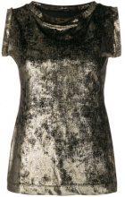 Antonio Marras - round neck sleeveless blouse - women - Polyester/Spandex/Elastane - 42 - METALLIC